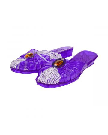 YUEQI QI UPCYCLED SLIPPERS / PURPLE