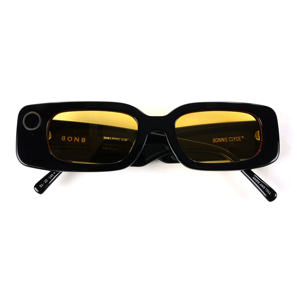 BONNIE CLYDE EYEWEAR 8ON8 SHOW AND TELL / BLACK-YELLOW TINT