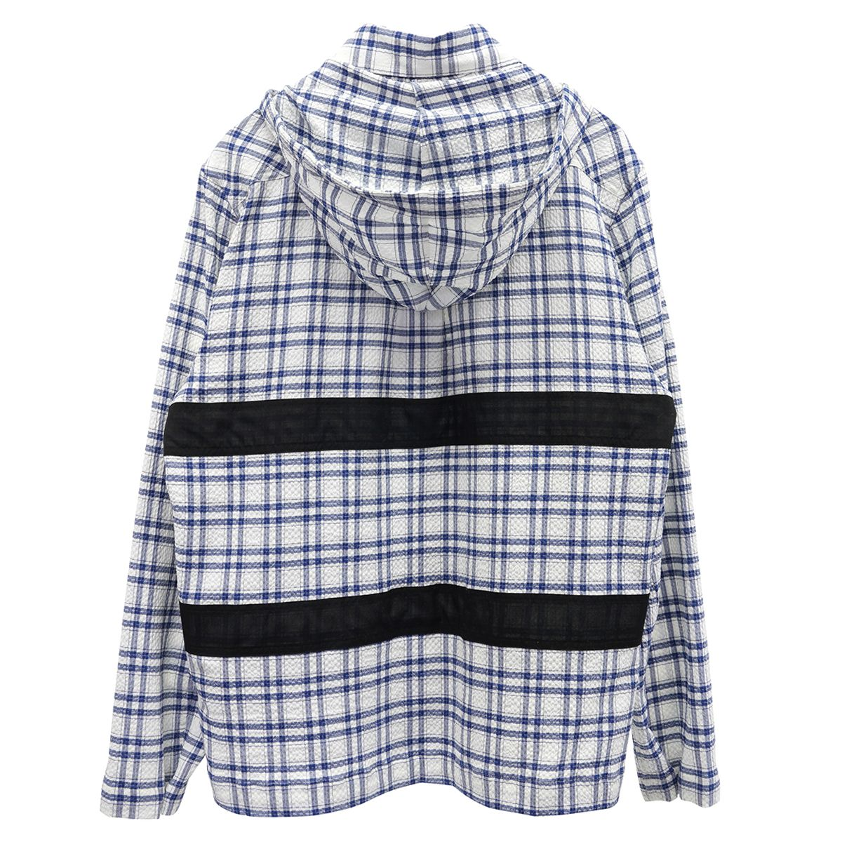 CRAIG GREEN HARNESS HOODED SHIRT / NAVY CHECK