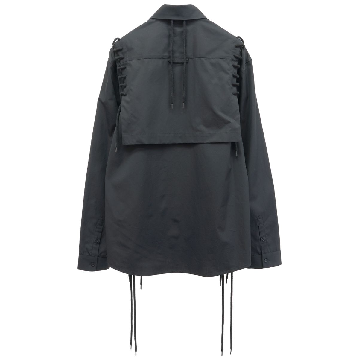 CRAIG GREEN FOLD LACED SHIRT LS / BLACK
