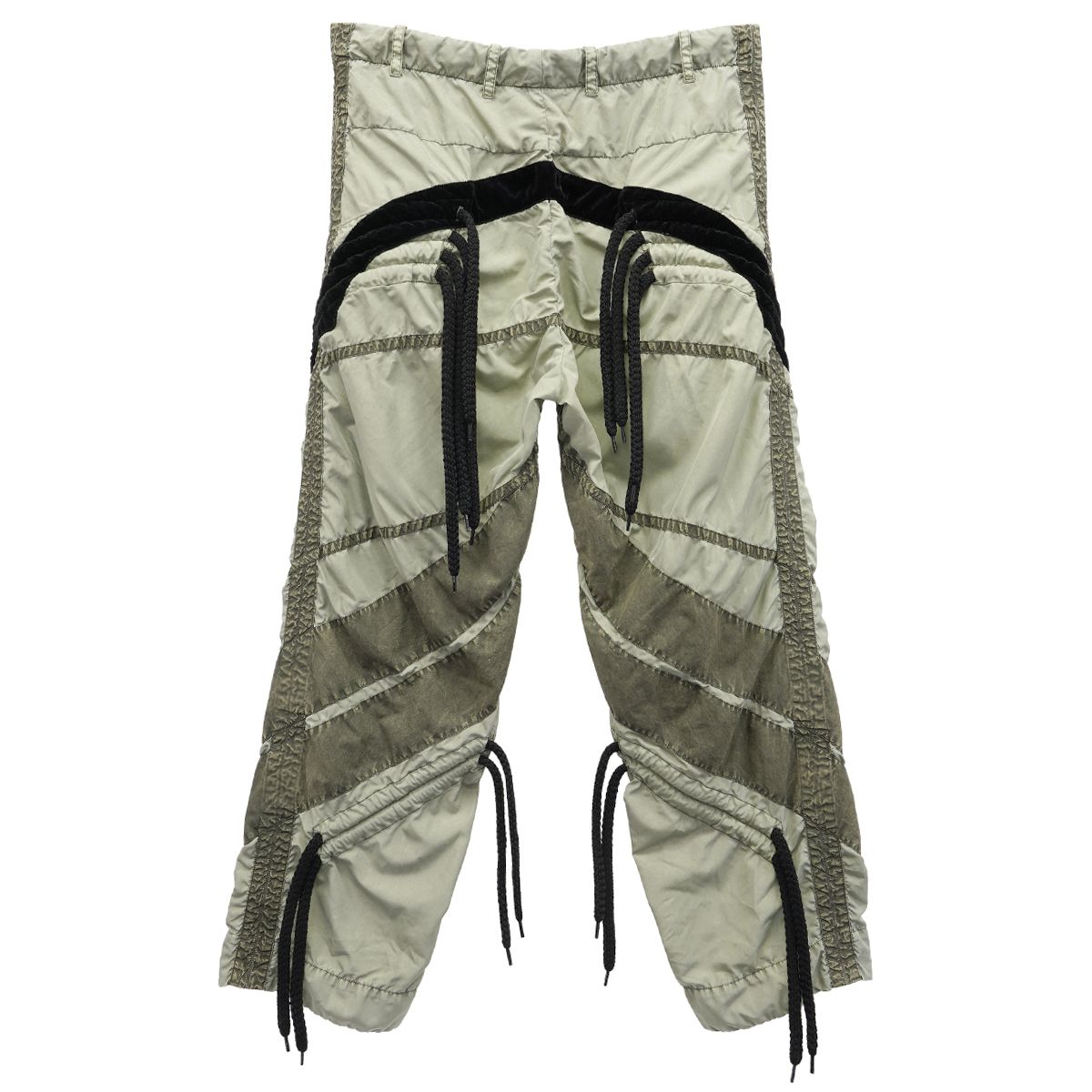 CRAIG GREEN FLOWER DIAMOND TROUSERS / OLIVE
