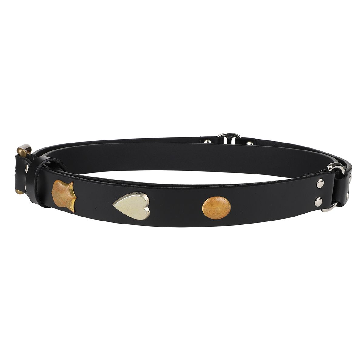 Charles Jeffrey LOVERBOY THIN COLLAGE BELT / BLACK