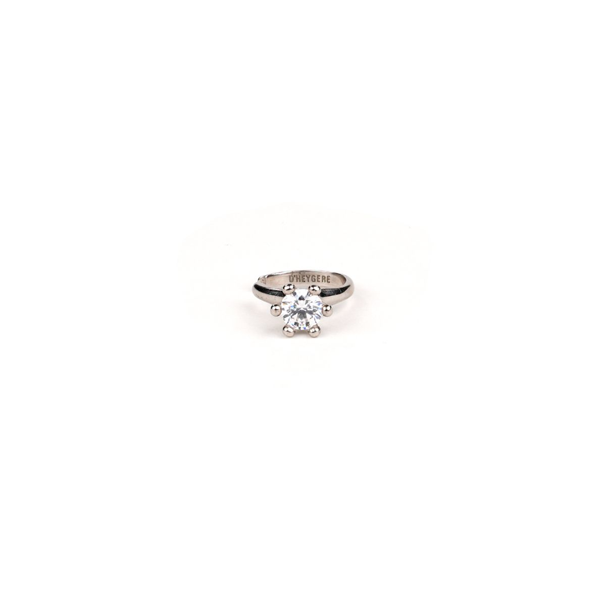 D'HEYGERE SOLITAIRE EAR CUFF / SILVER-WHITE