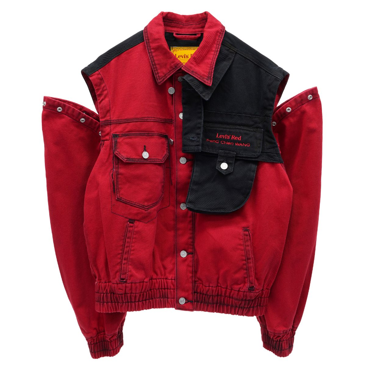 Feng Chen Wang x Levi's Red OVERSIZED JACKET / RED-BLACK