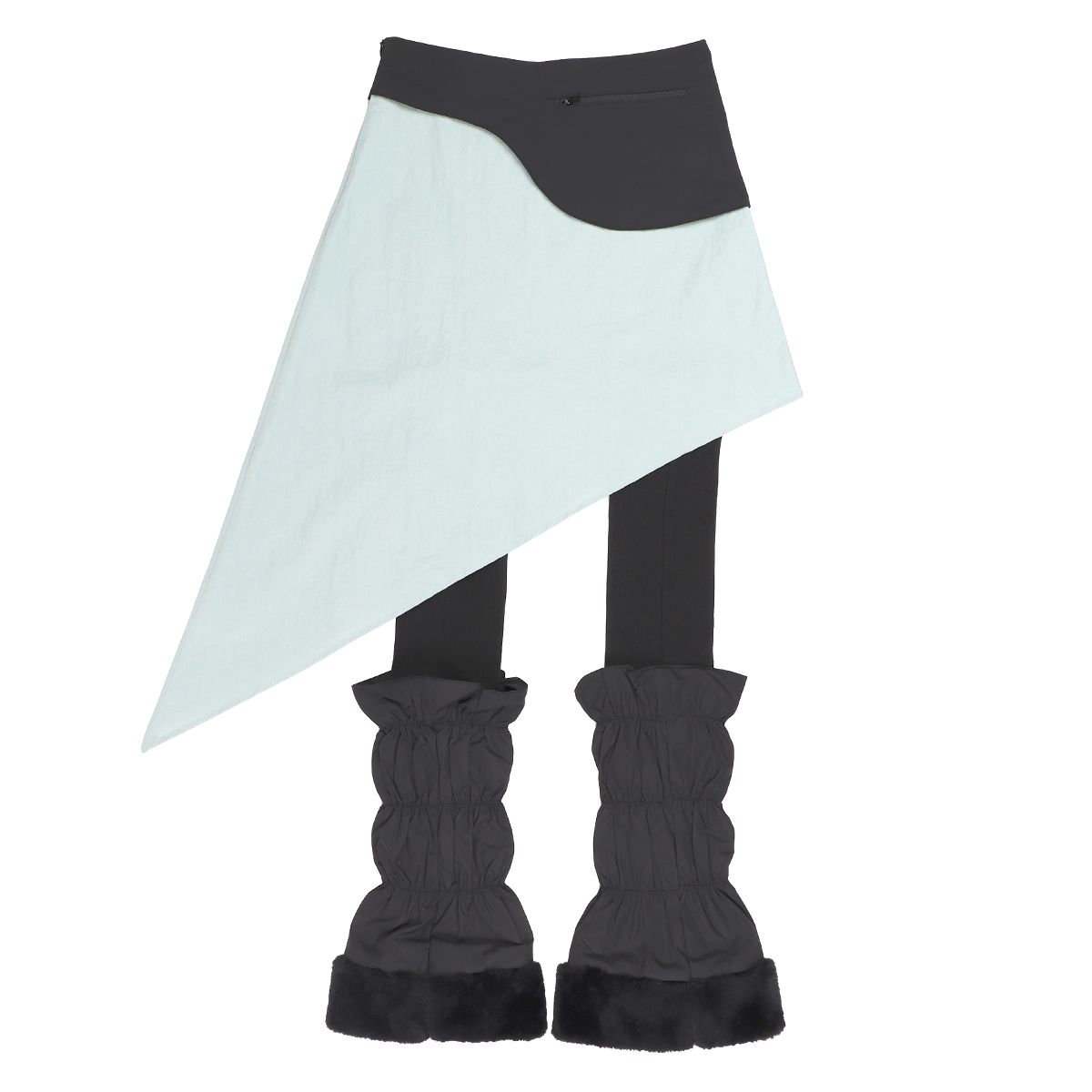 Jichoi WAIST BAG SKIRT W/LEG WARMERS / MINT-BLACK