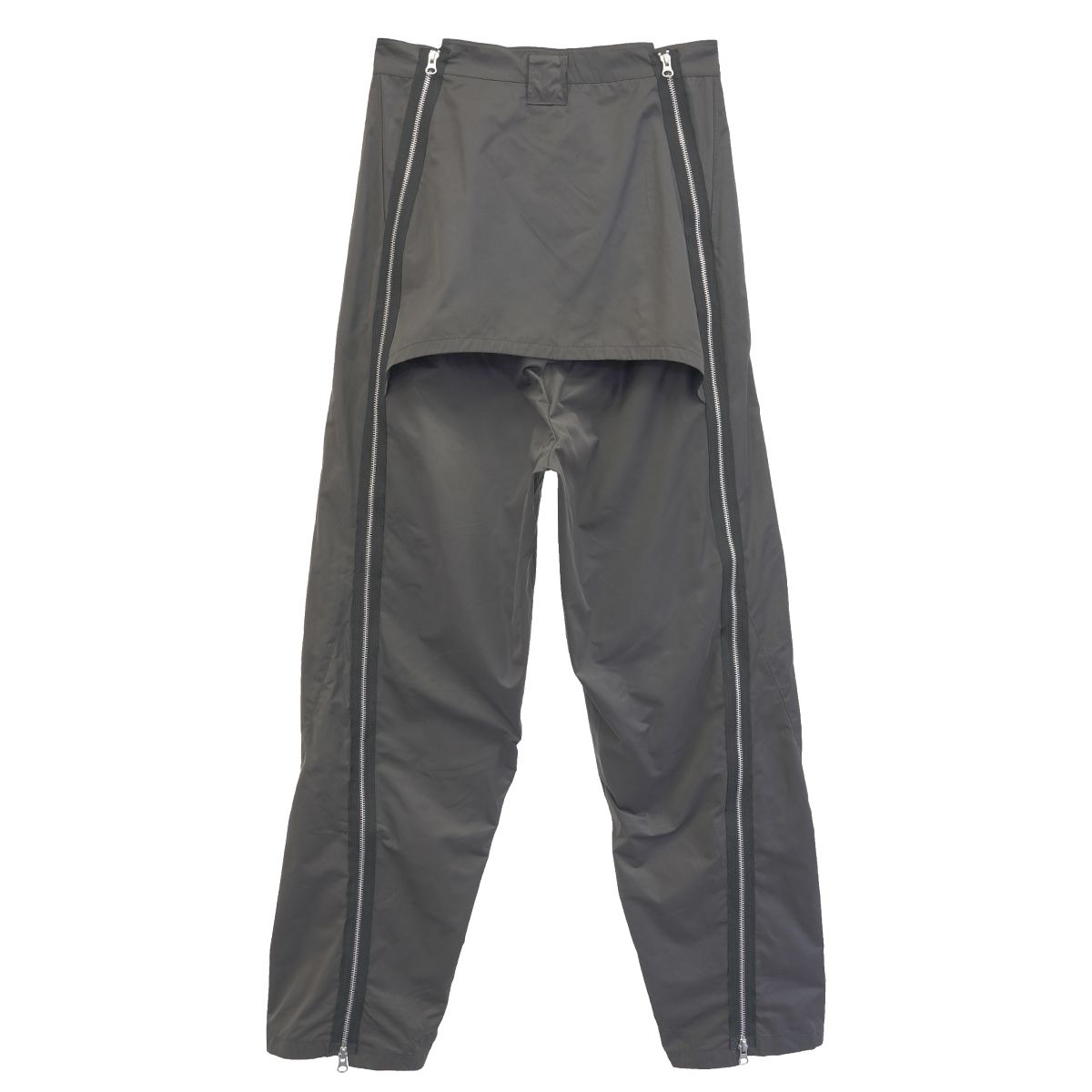 Jichoi BAGGY ZIP TROUSERS / DARK BROWN