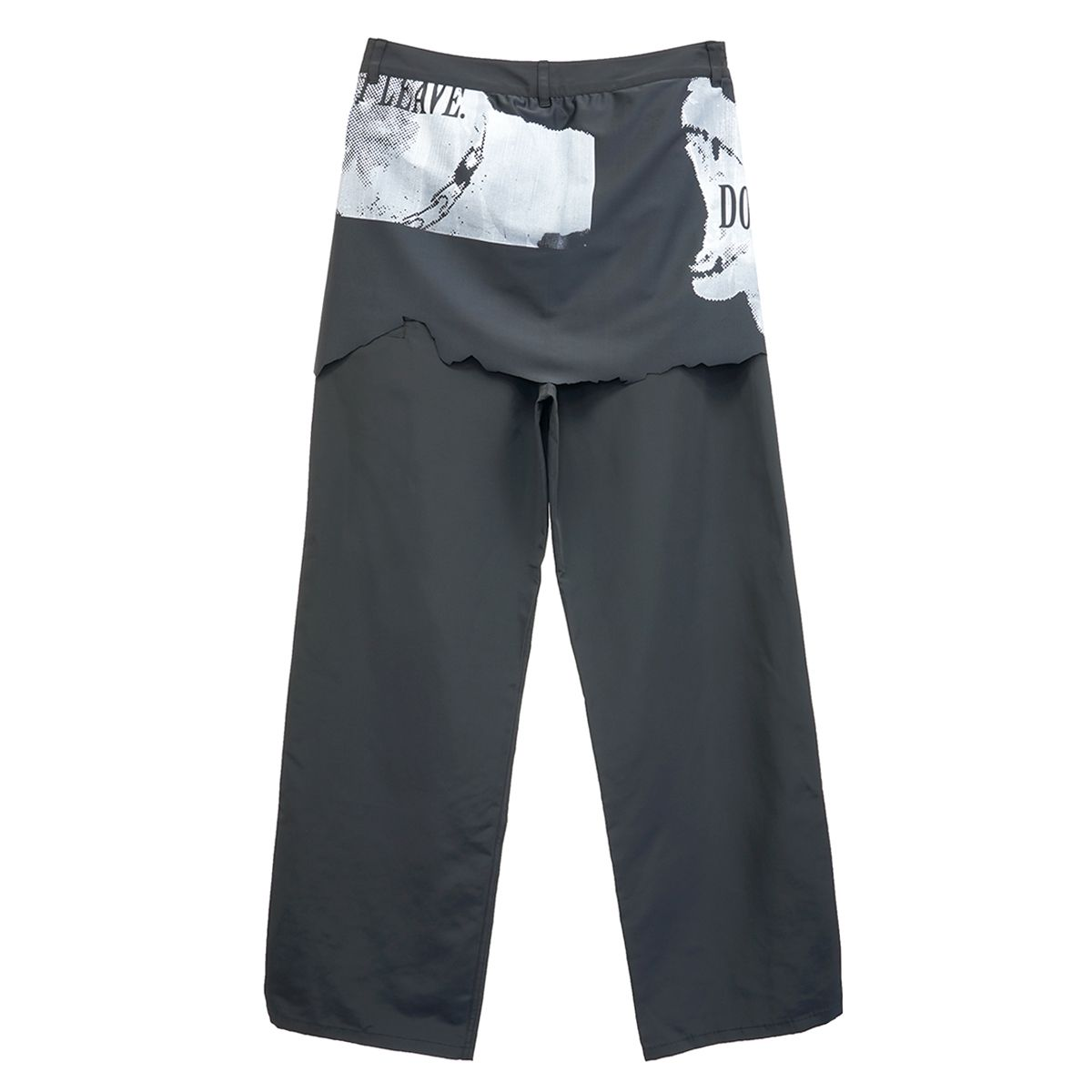 Jichoi DRAPE TROUSERS W/HIDDEN ZIP / BLACK