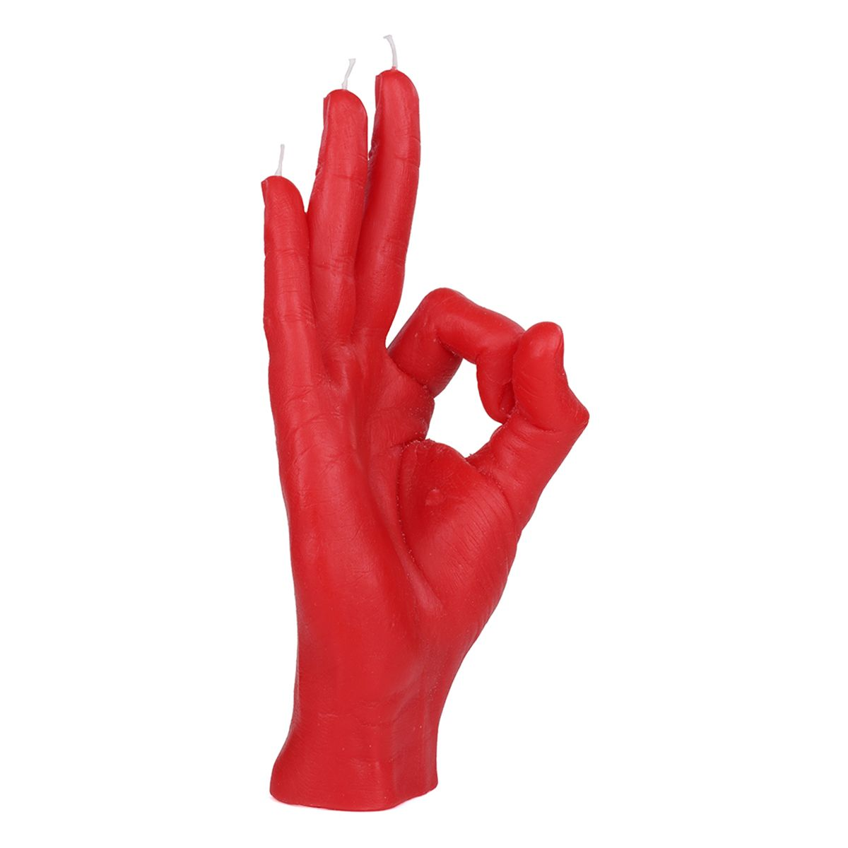 CANDLE HAND OK / RED