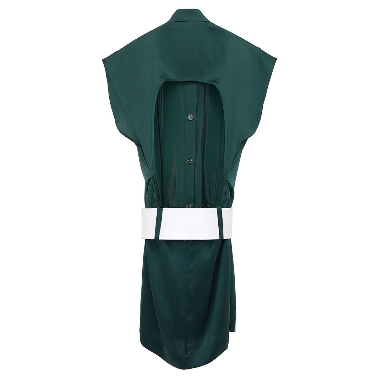 MOWALOLA VEST DRESS / FOREST GREEN