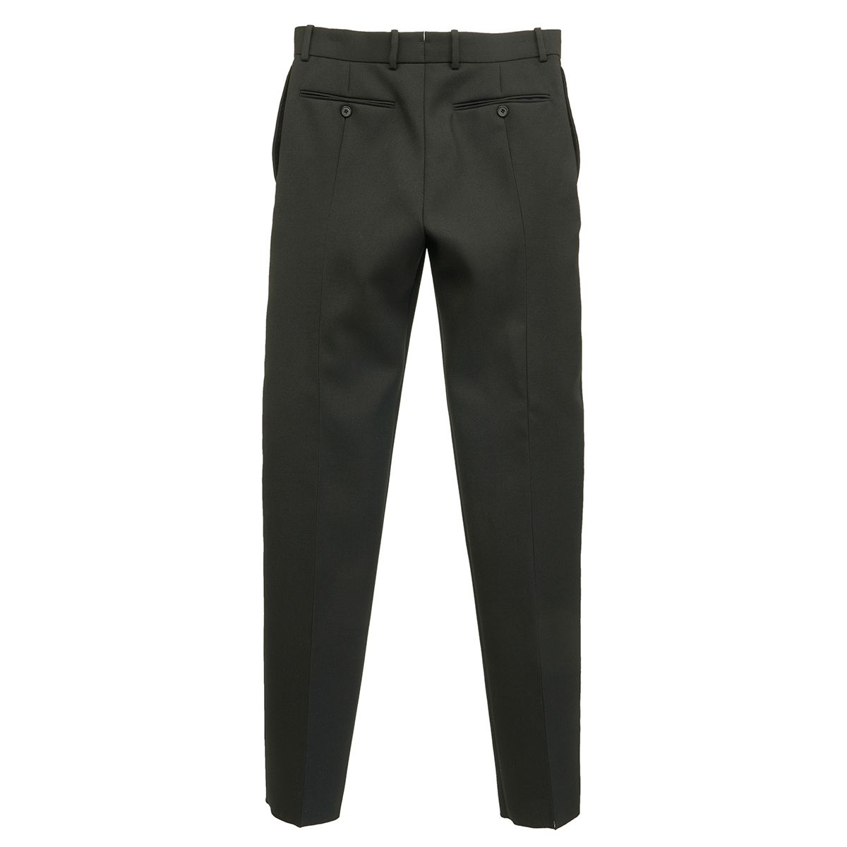 ALEXANDER McQUEEN CIGARETTE TROUSER WOOL / BLACK