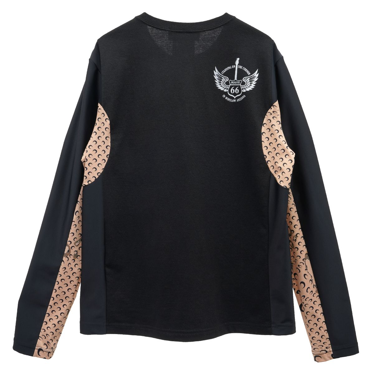 MARINE SERRE REGENERATED LONG SLEEVE T-SHIRT 3 / 00 : BLACK