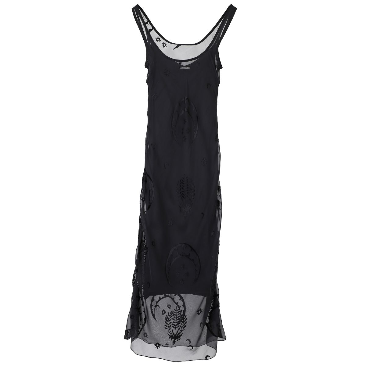 MARINE SERRE DEVORE DRESS / 01 : BLACK