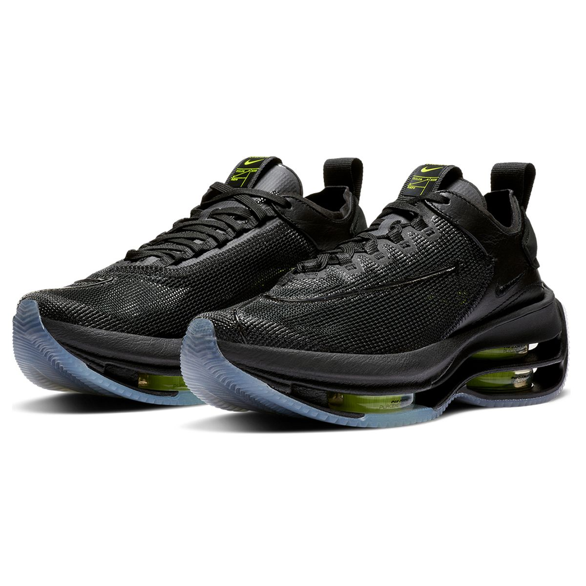W NIKE ZOOM DOUBLE STACKED / 001 : BLACK/VOLT-BLACK