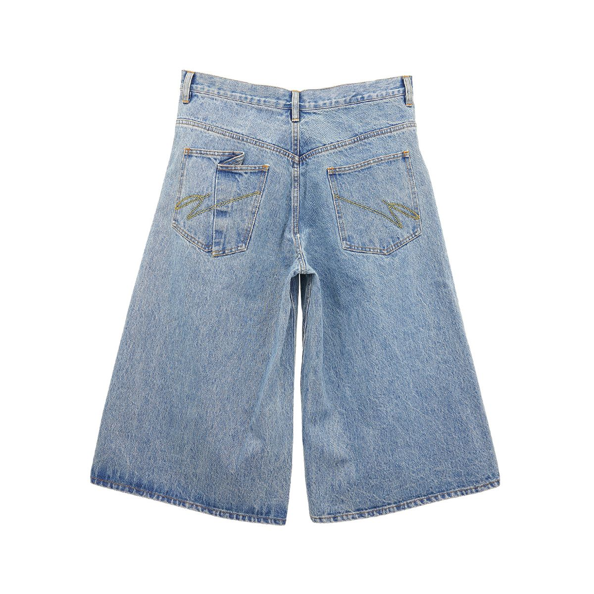Necessity Sense SAIL PLEATED CROPPED WORK JEAN / SKY BLUE INDIGO WASH