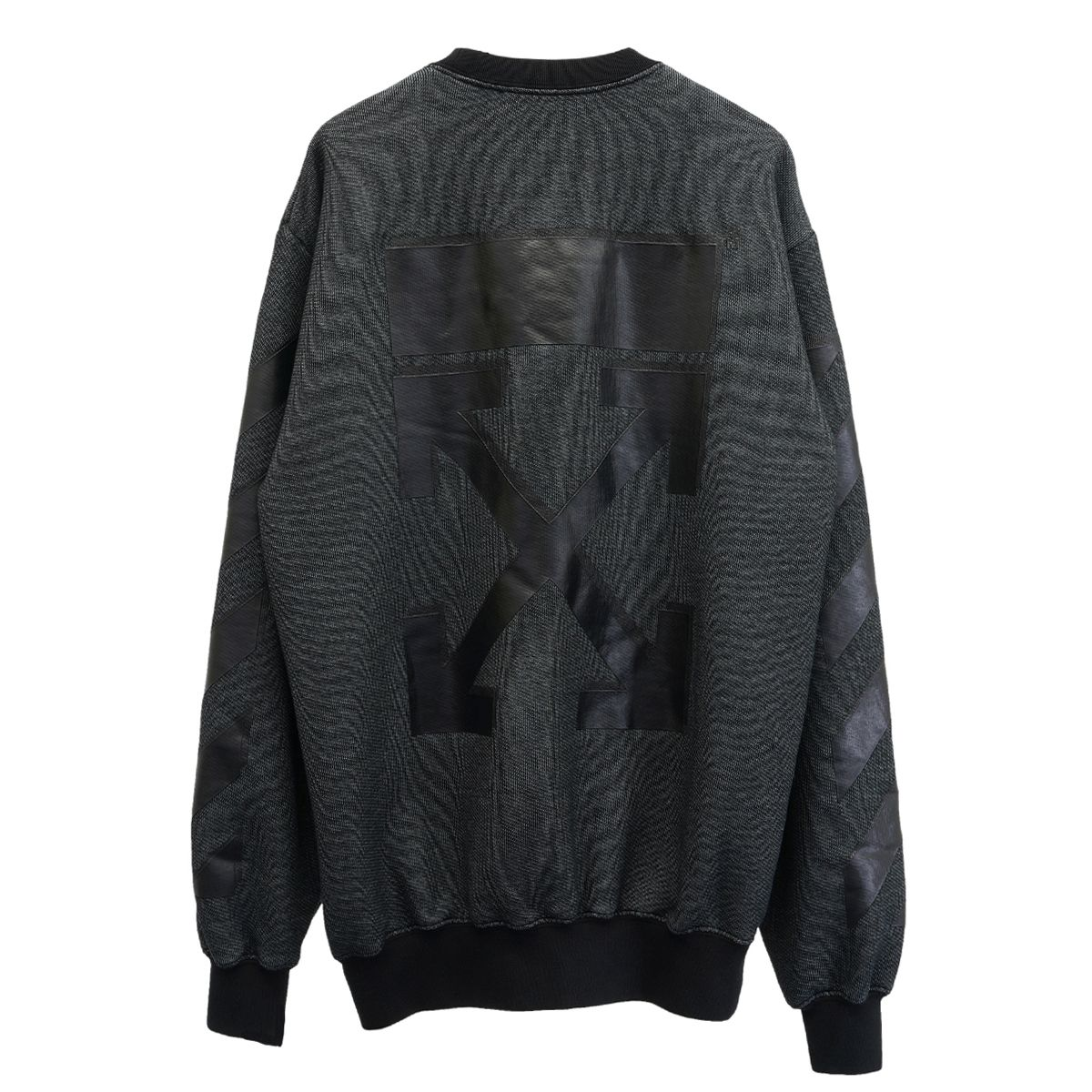 OFF-WHITE c/o Virgil Abloh WOMENS ARROW REG CREWNECK / 1010 : BLACK BLACK