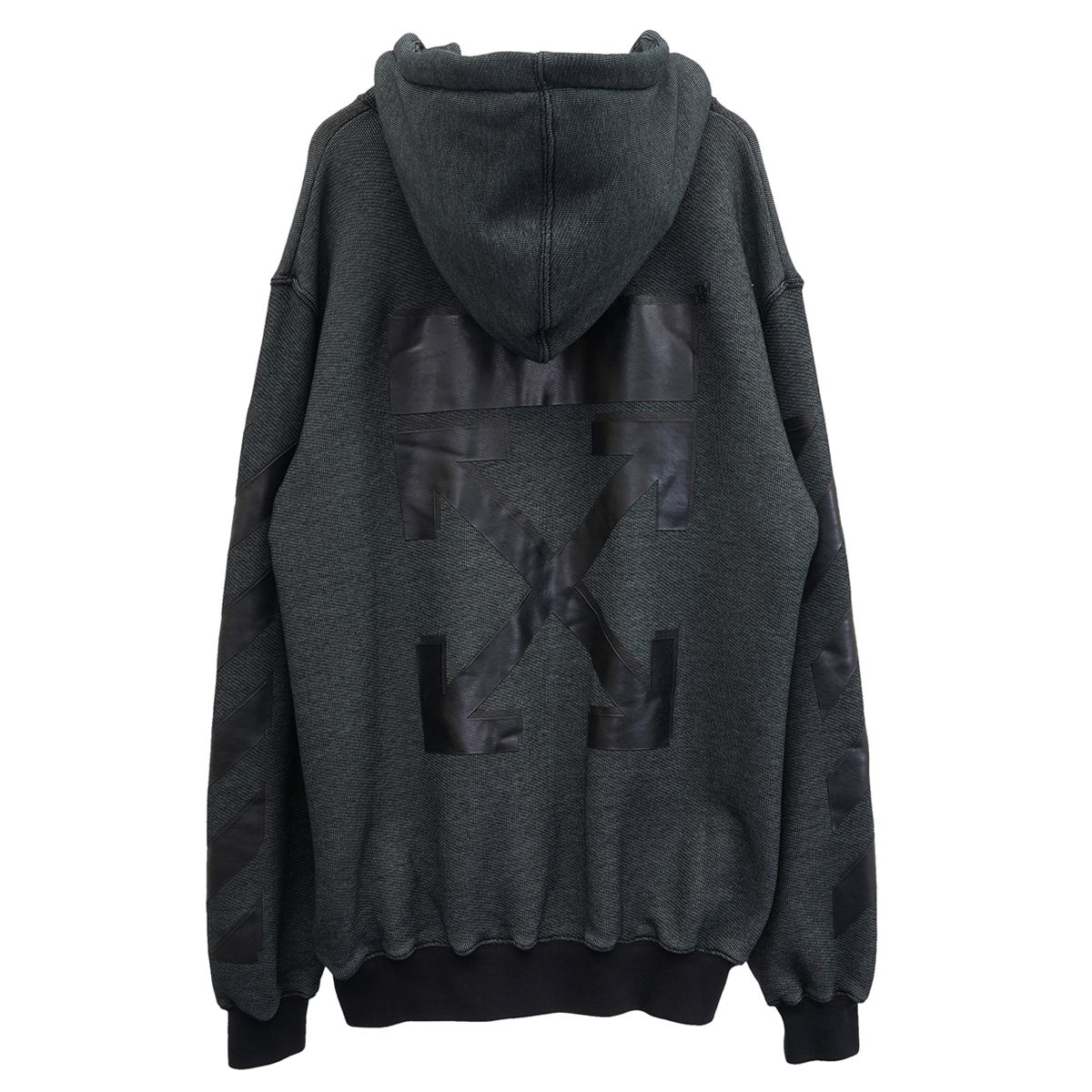 OFF-WHITE c/o Virgil Abloh WOMENS ARROW ZIPPED HOODIE / 1010 : BLACK BLACK