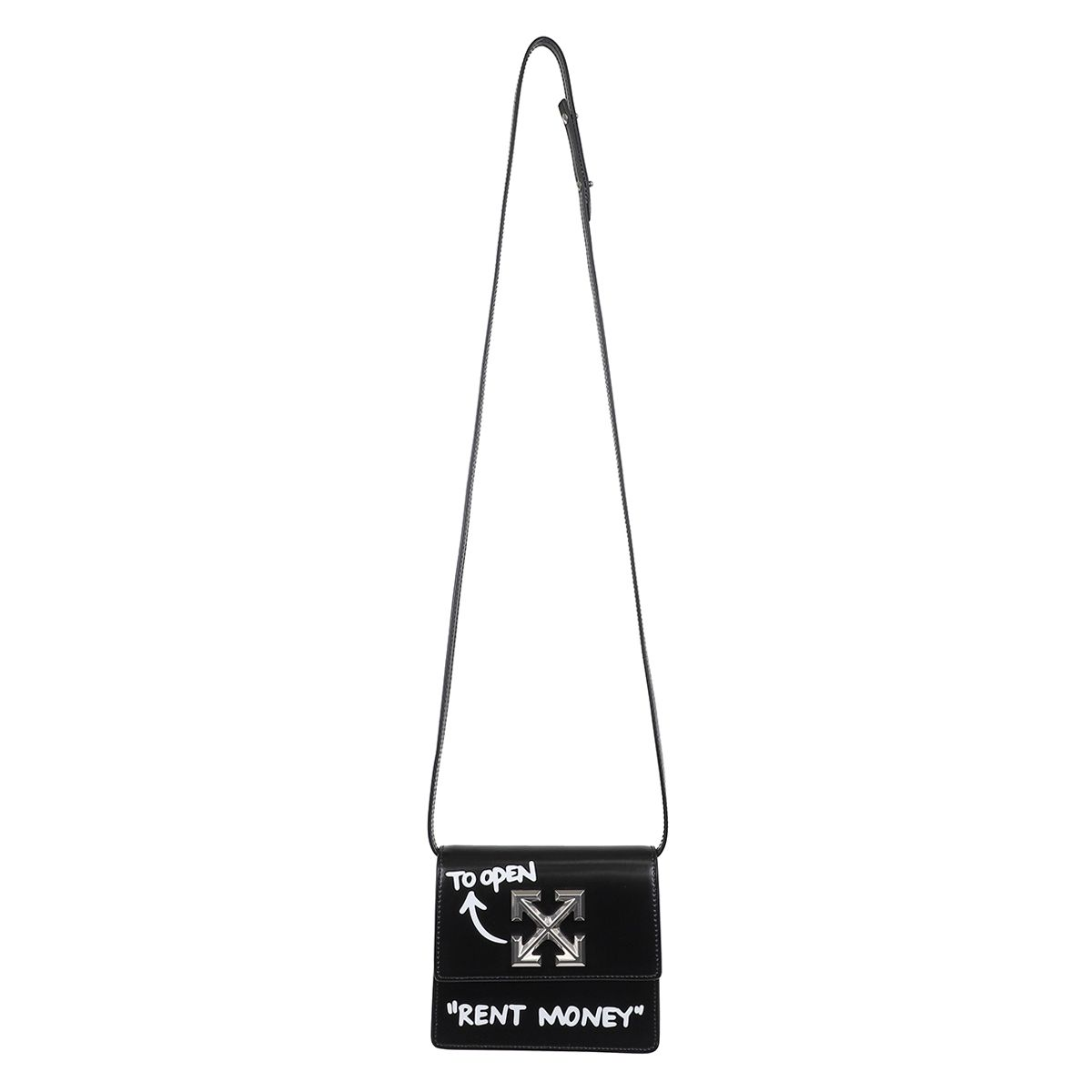 OFF-WHITE c/o Virgil Abloh WOMENS TURN TO OPEN JITNEY 0.7 / 1001 : BLACK WHITE