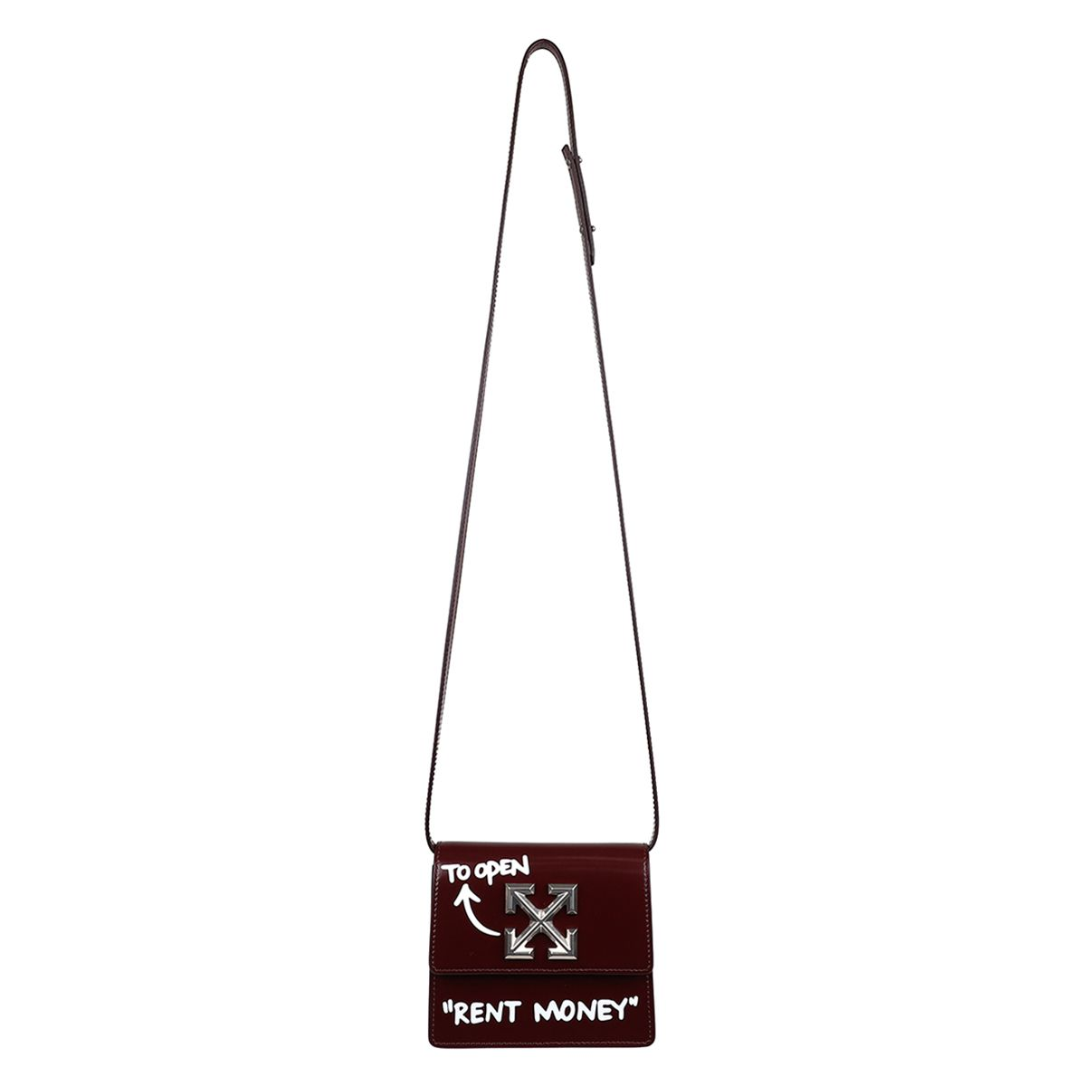 OFF-WHITE c/o Virgil Abloh WOMENS TURN TO OPEN JITNEY 0.7 / 2801 : BURGUNDY WHITE