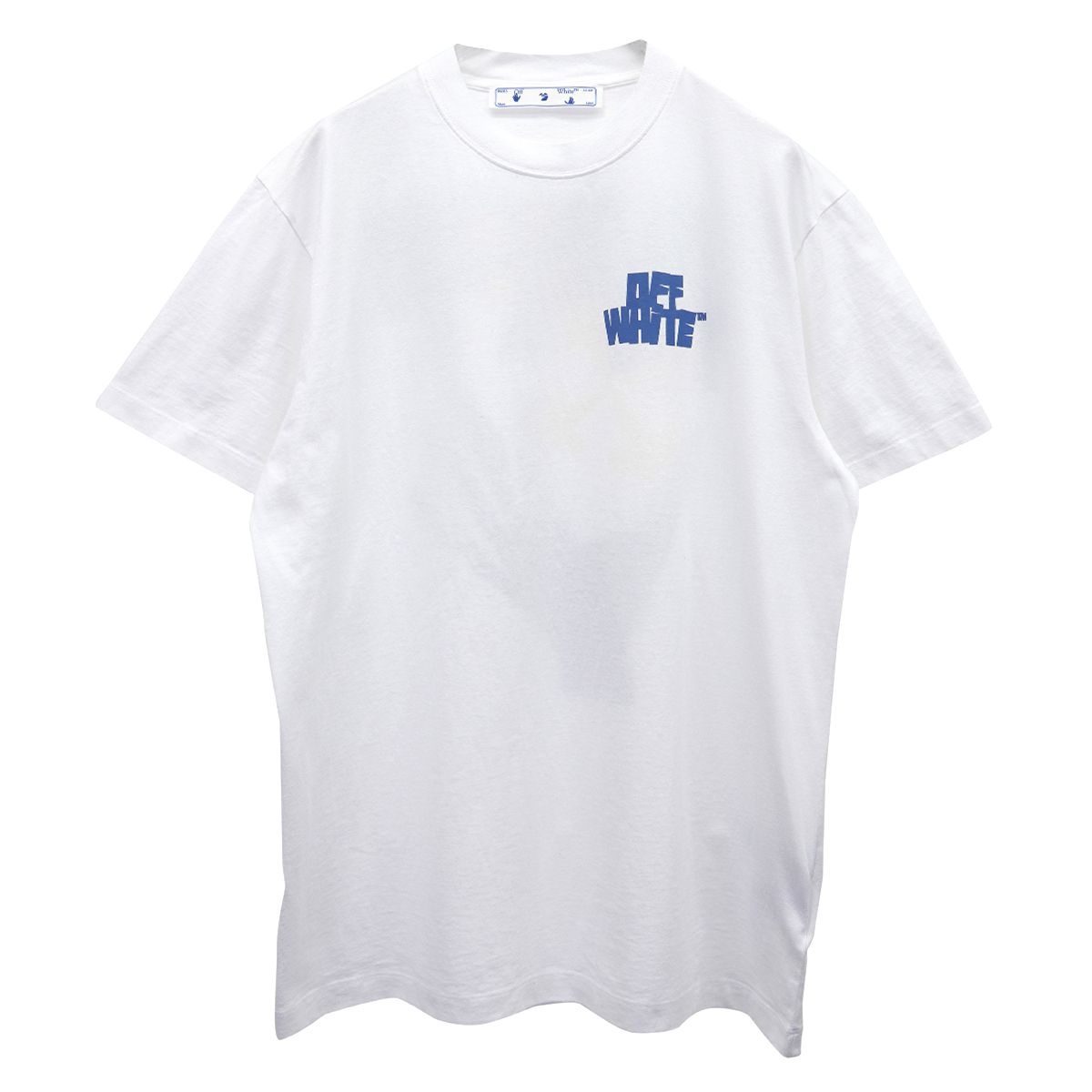OFF-WHITE c/o Virgil Abloh MENS HANDS ARROWS S/S OVER TEE / 0140 : WHITE LIGHT BLUE