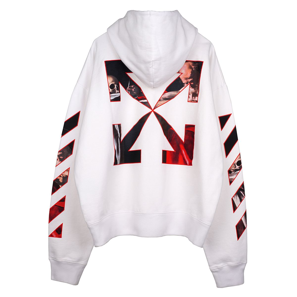 OFF-WHITE c/o Virgil Abloh MENS CARAVAGGIO OVER HOODIE / 0125 : WHITE RED