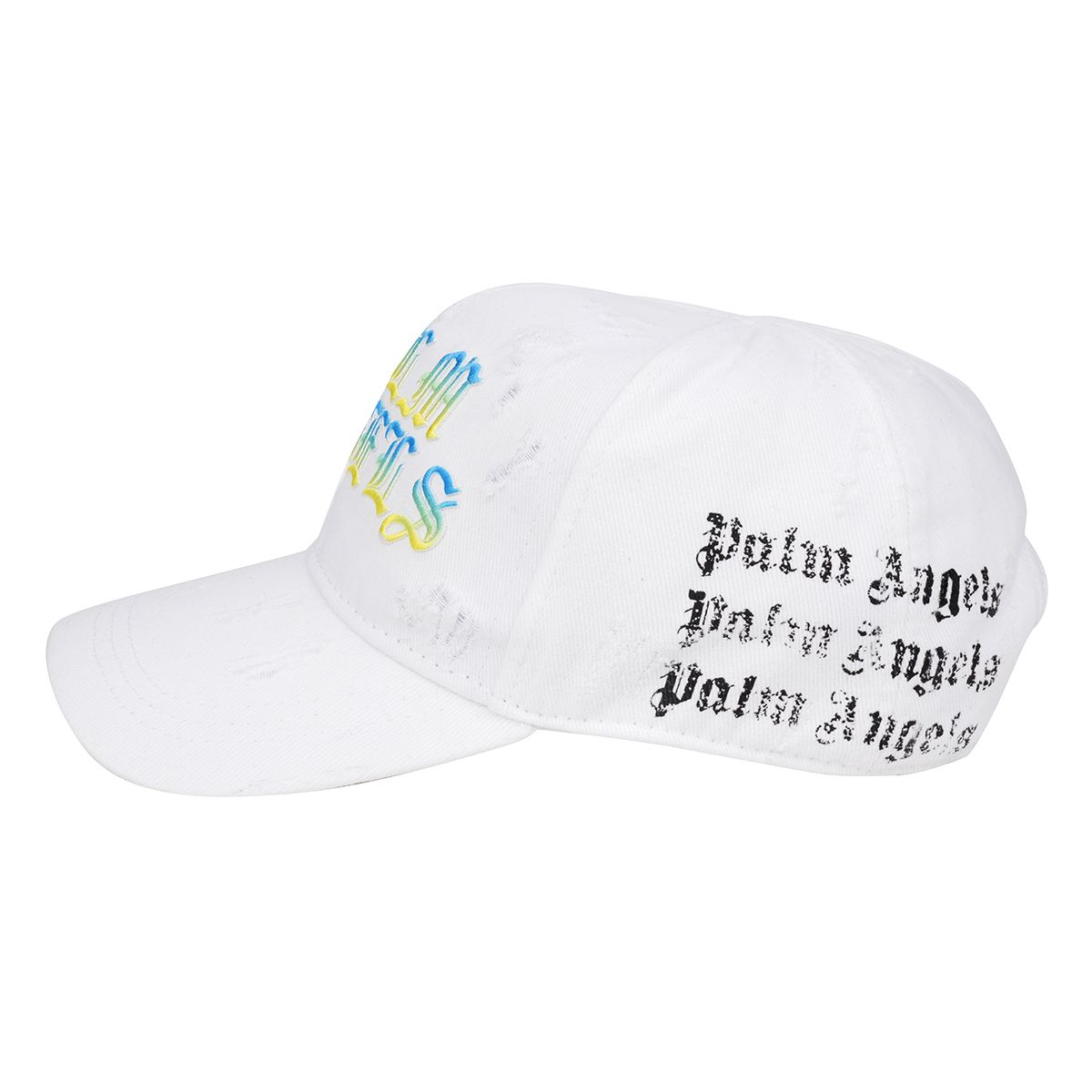 Palm Angels HUE GOTHIC LOGO CAP / 0184 : WHITE MULTICOLOR