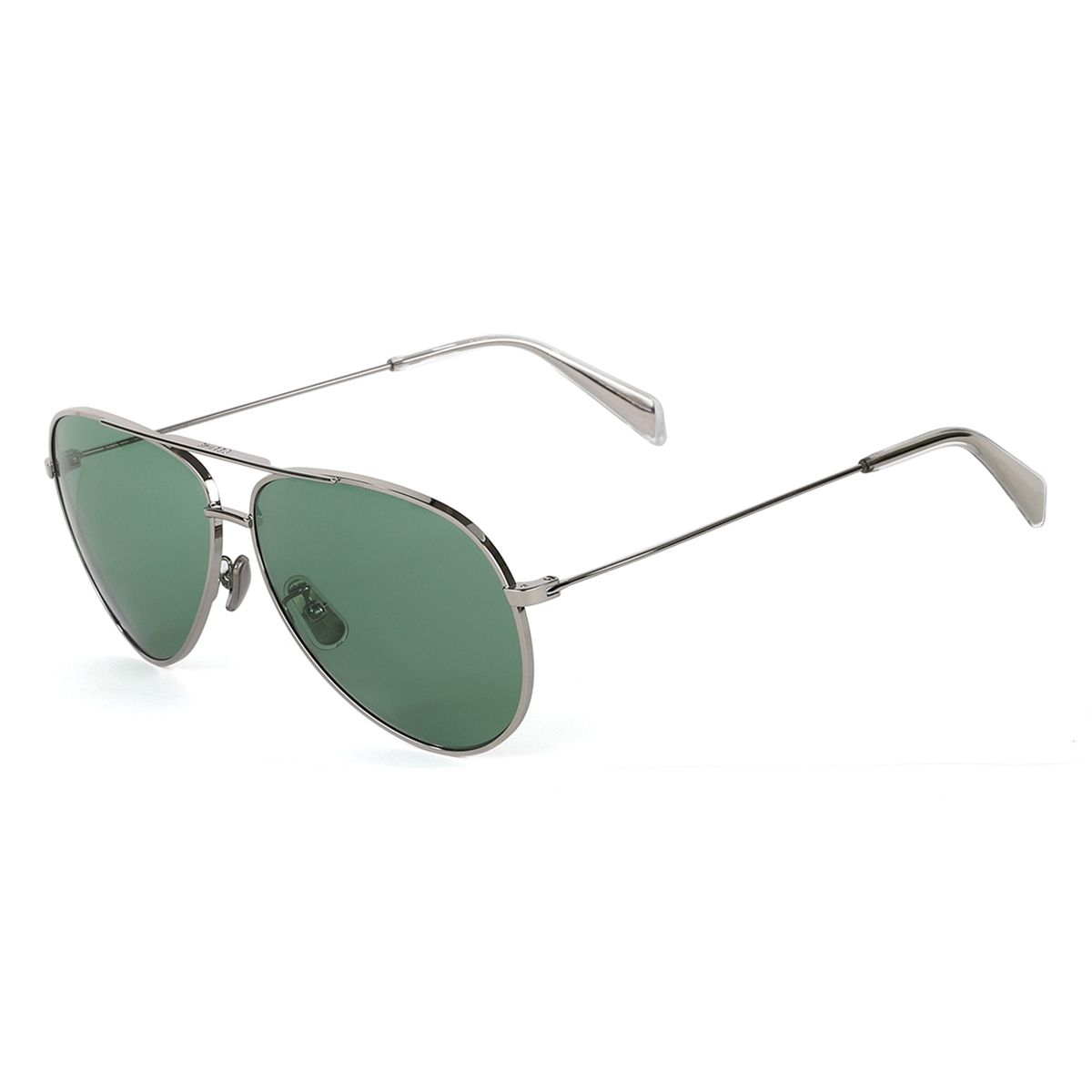 CELINE SUNGLASSES/3KITCLSMALR0 / SILVER(D.GREEN)