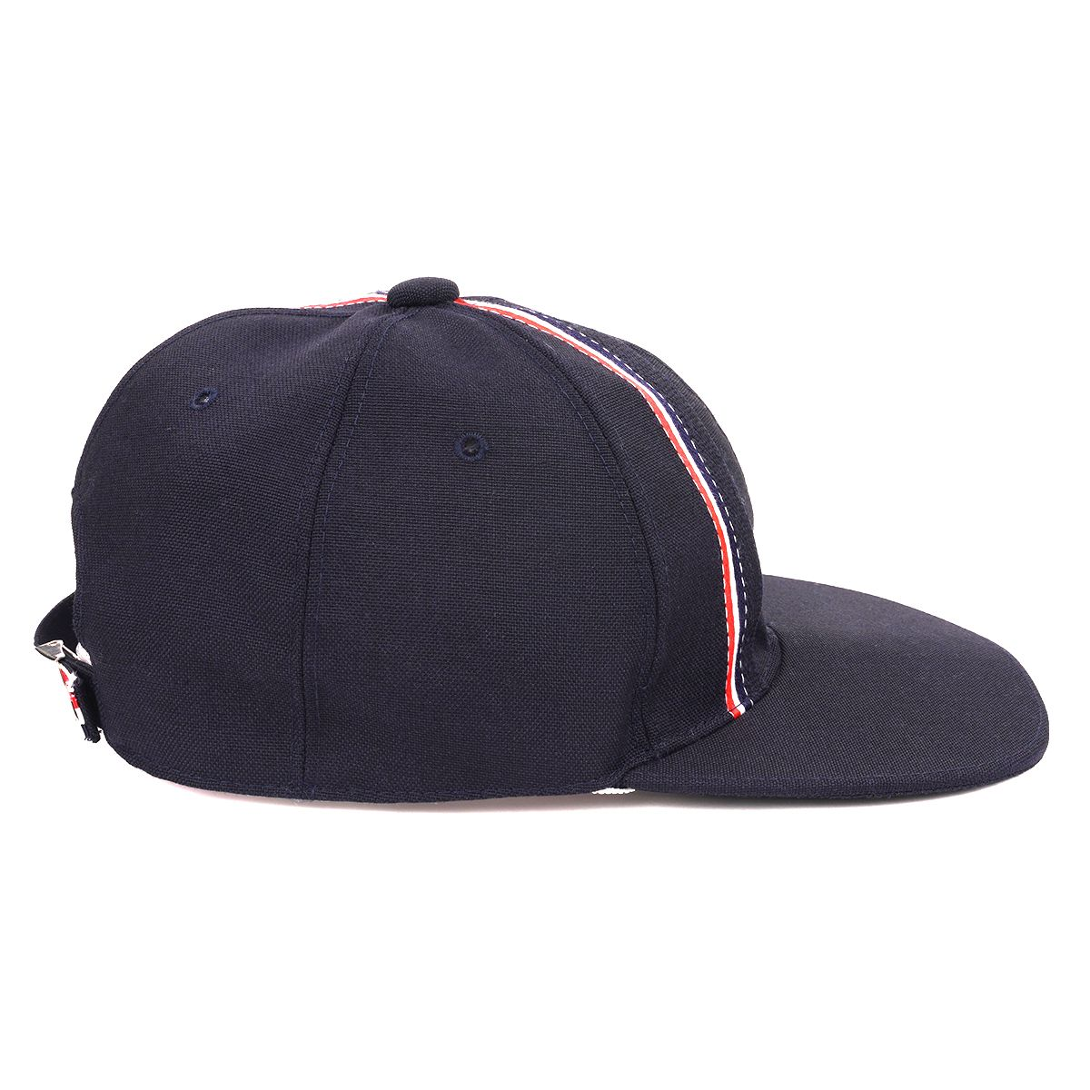 [お問い合わせ商品] THOM BROWNE. BASEBALL CAP W/ OVERLAPPED RWB SELVEDGE PLACEMENT IN 3 PLY WOOL MOHAIR / 415
