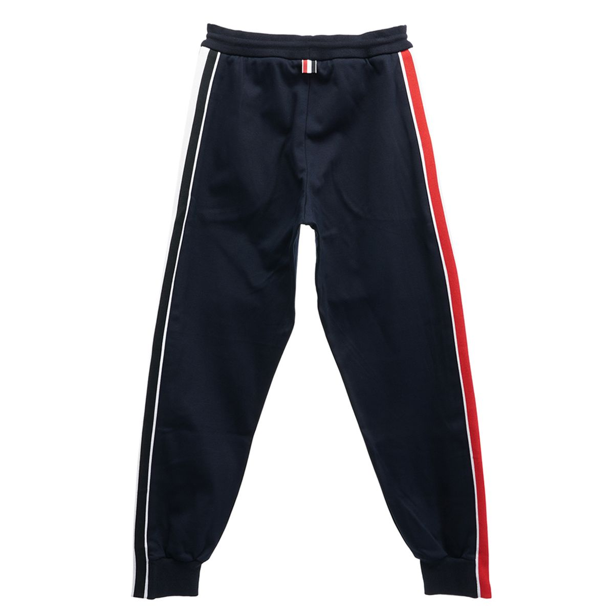 [お問い合わせ商品] THOM BROWNE. TRACK PANTS W.RWB STRIPE IN INTERLOCK / 415 : NAVY