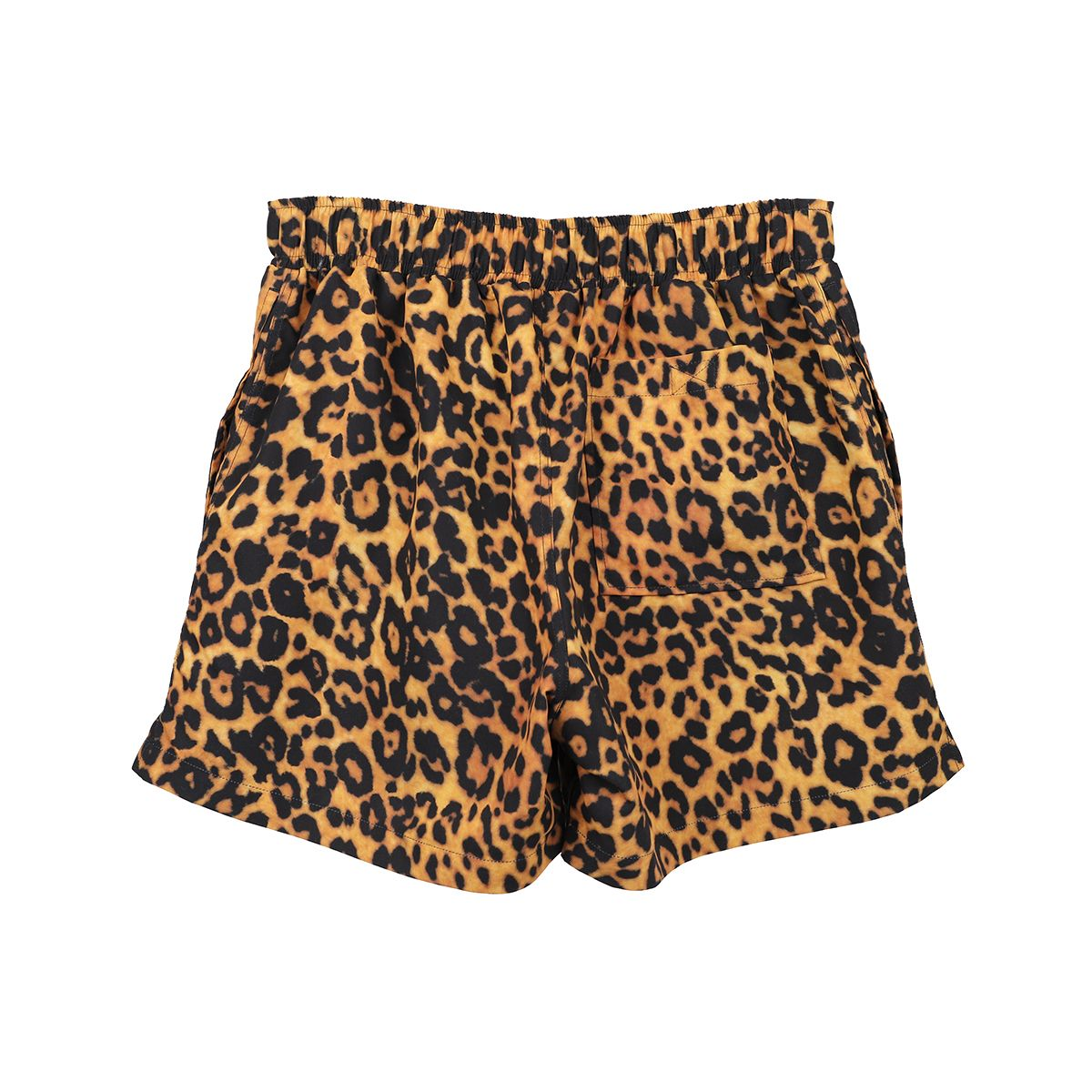 VETEMENTS LEOPARD LOGO SWIMSHORTS / LEOPARD