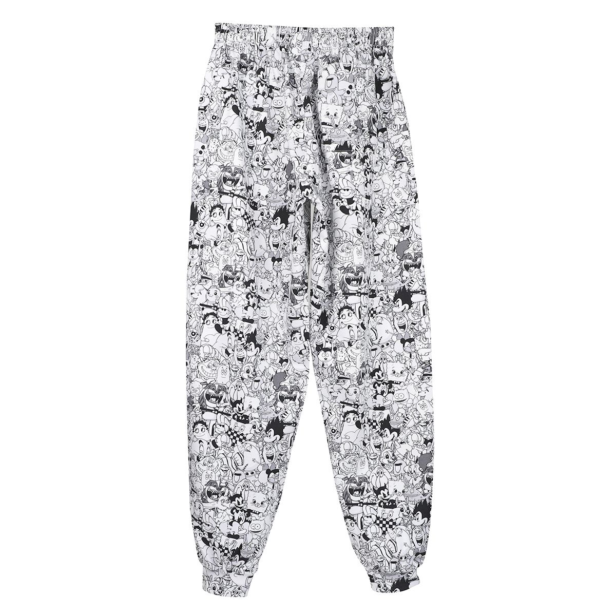 VETEMENTS CARTOON MANIA SWEATPANT / BLACK-WHITE