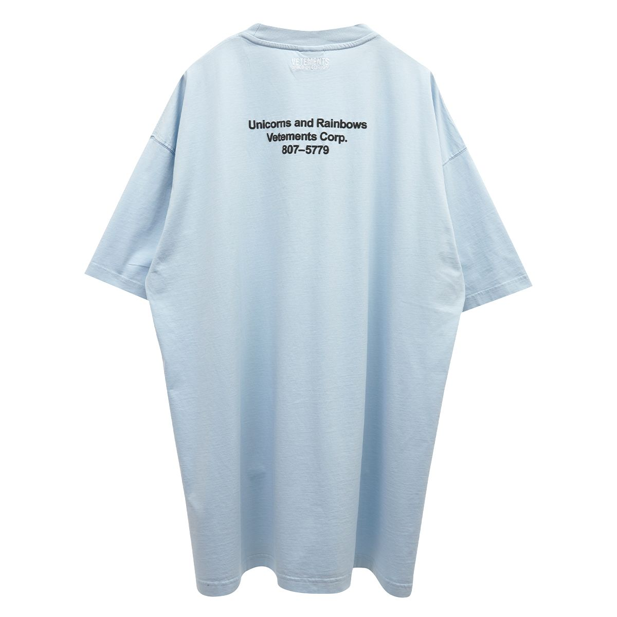 VETEMENTS MAGIC UNICORN T-SHIRT / BABY BLUE
