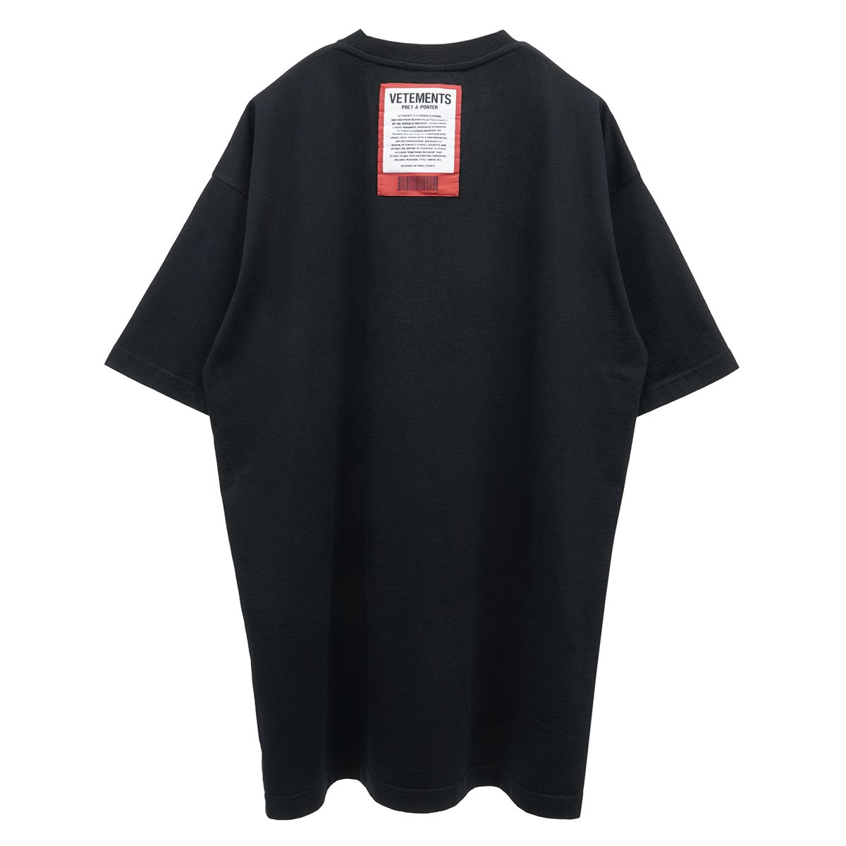 VETEMENTS LOGO PATCH T-SHIRT / BLACK