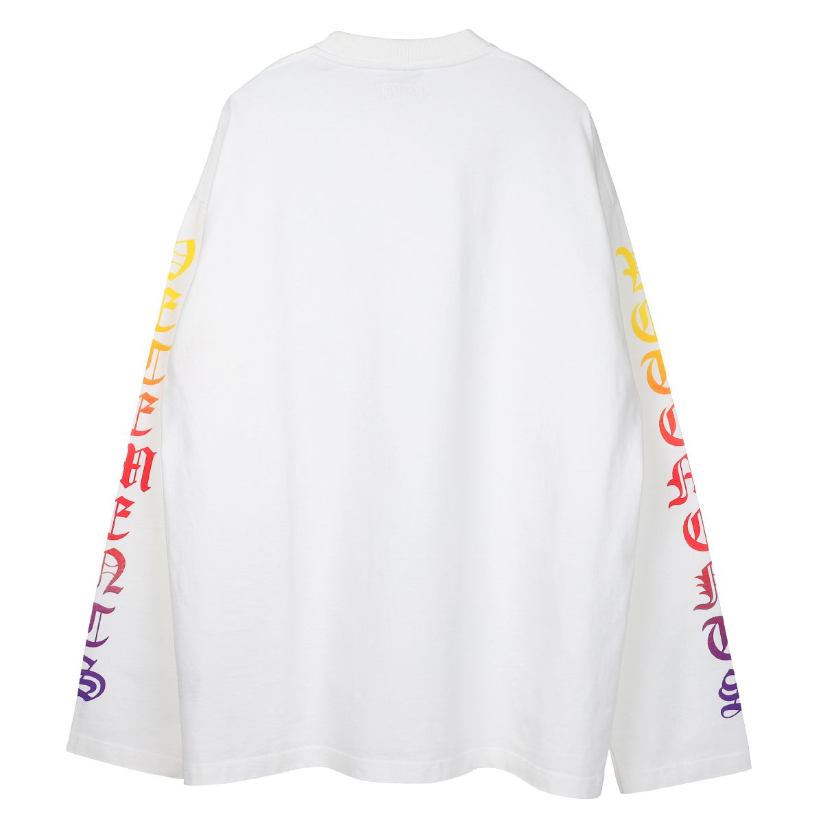 VETEMENTS DEGRADE GOTHIC LOGO LONGSLEEVE / WHITE