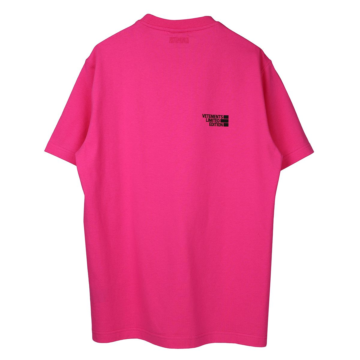 VETEMENTS LOGO LIMITED EDITION T-SHIRT / HOT PINK
