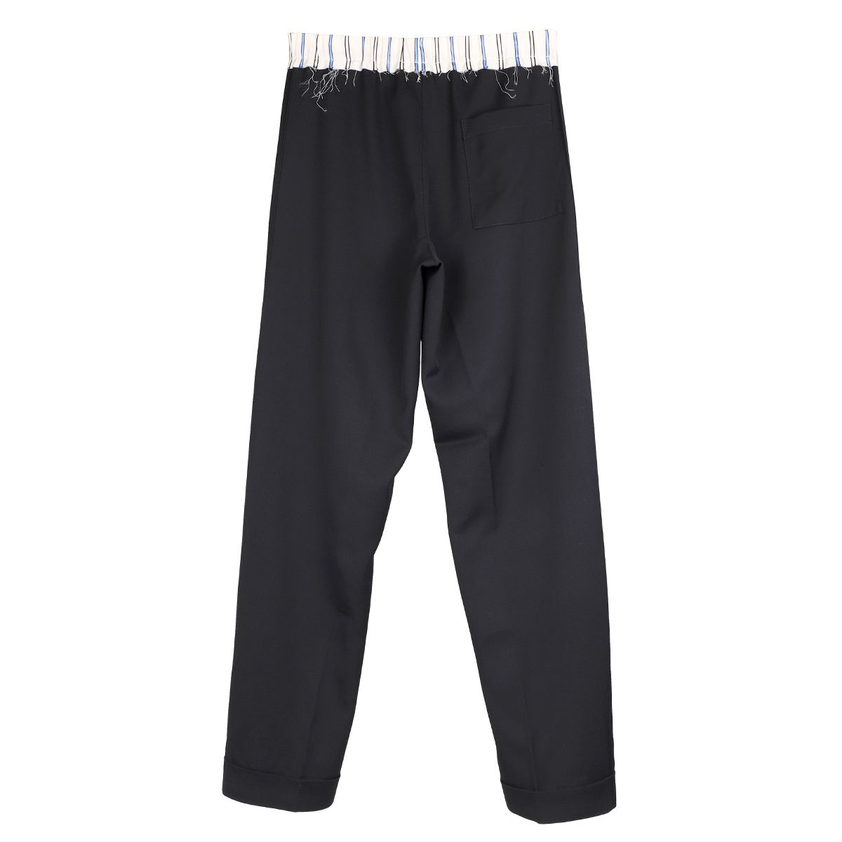 WALES BONNER STERLING TAILORED PYJAMA TROUSERS / BLACK-IVORY