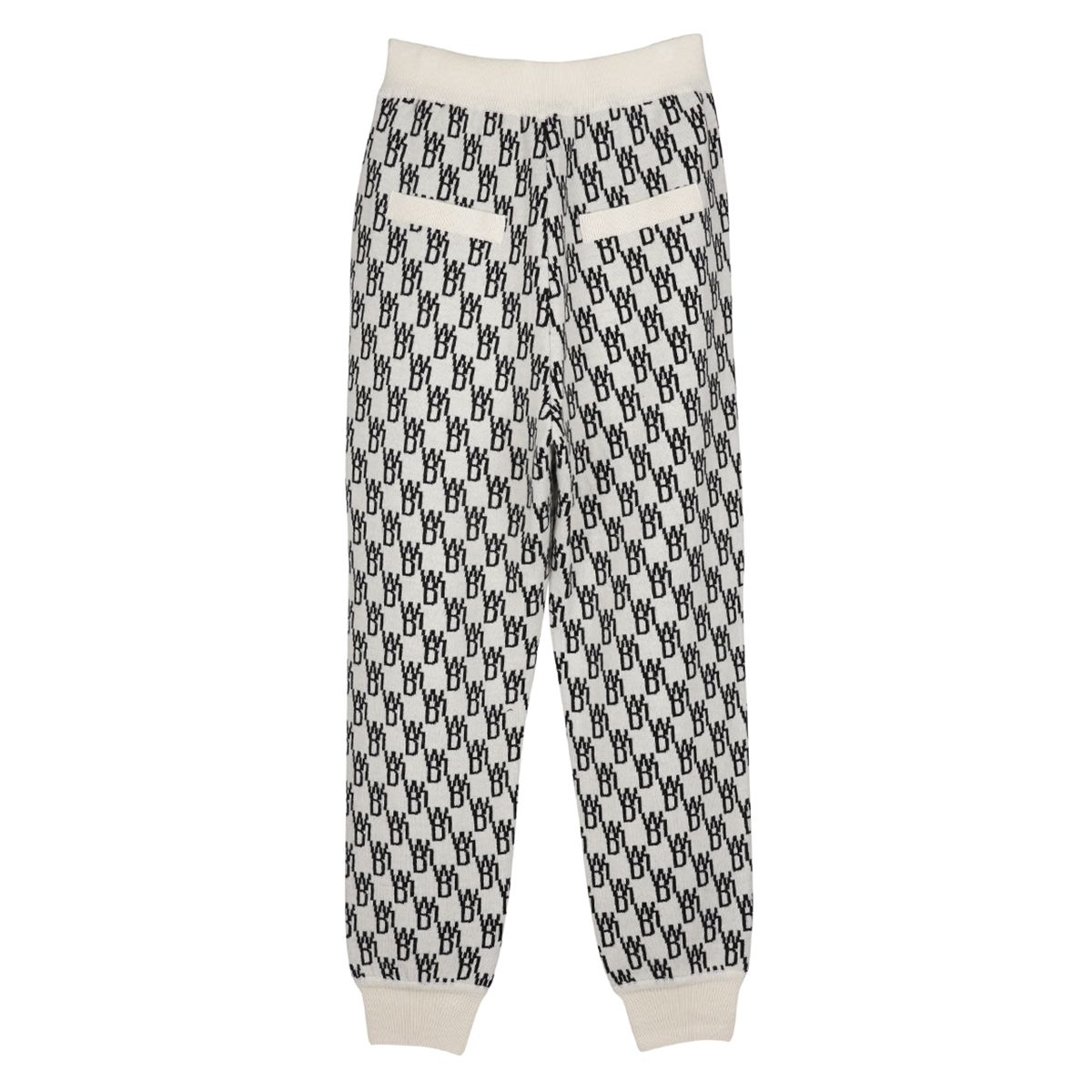 WE11DONE LOGO KNIT JQD TROUSER / IVORY