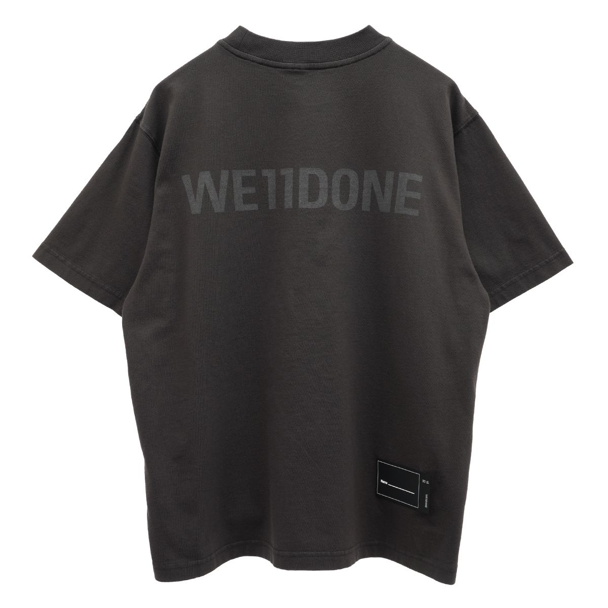 WE11DONE NEW MOVIE COLLAGE T-SHIRT / CHARCOAL