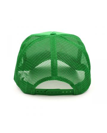SERVING THE PEOPLE STP SMILEY FACE TRUCKER HAT / GREEN