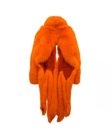 ASTRID ANDERSEN FOX FUR COAT / ORANGE
