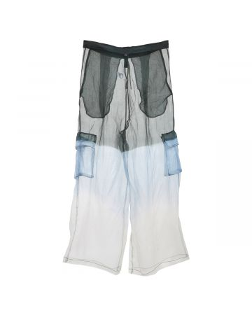 ASTRID ANDERSEN WIDE TROUSER / LIGHT BLUE-BLACK
