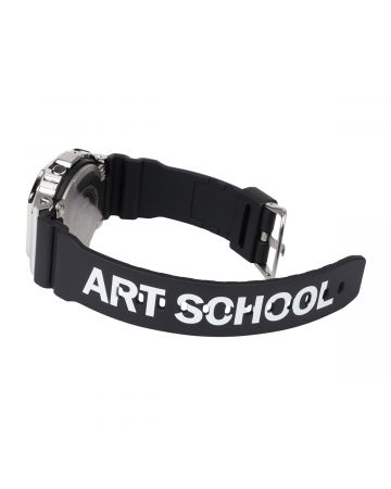 ART SCHOOL x CASIO WATCH LARGE / BLACK-SILVER