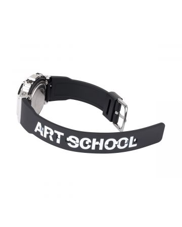 ART SCHOOL x CASIO WATCH SMALL / BLACK-SILVER
