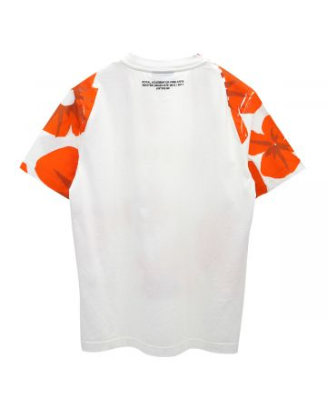 BOTTER SHORT SLEEVE CLASSIC BOTTER T-SHIRT / WHITE ORANGE FLOWERS