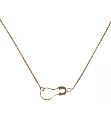 BIIS ROUND SAFETY PIN CHAIN SIZE S / GOLD