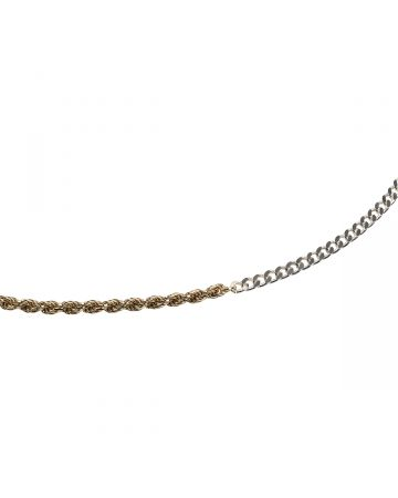 BIIS 3 CHAIN NECKLACE / GOLD-SILVER