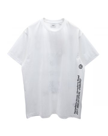 BURBERRY W JWEAR T SHIRT / A1464 : WHITE