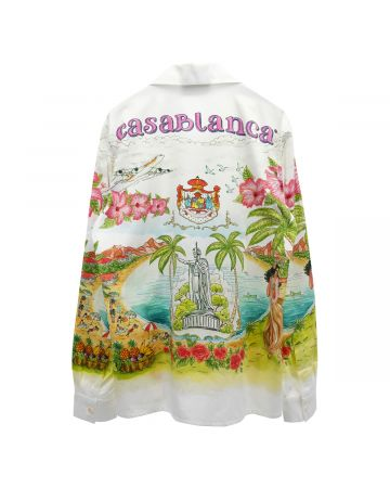 Casablanca PRINTED COTTON SHIRT / 107 : KAMEHAMEHA