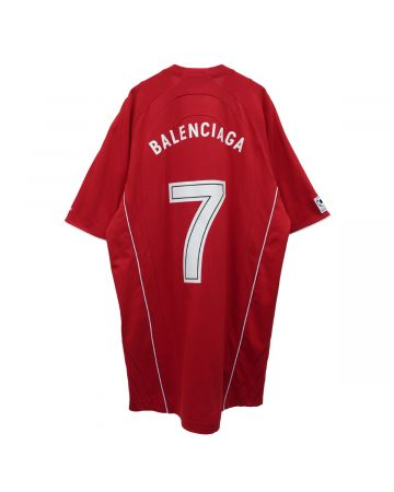 """EXCLUSIVE"" BALENCIAGA TJV51/T-SHIRT / 6540 : RED-WHITE"