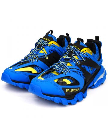 """""""EXCLUSIVE"""" BALENCIAGA TRACK LED TRICOLOR UP NW / 4072 : BLUE-YELLOW-BLACK"""