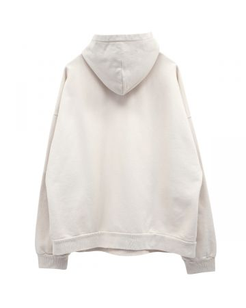 BALENCIAGA WIDE FIT HOODIE / 9054 : CHALKY WHITE-BLACK